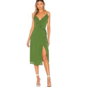 1.STATE Flounce Detail Wrap Dress Size 2
